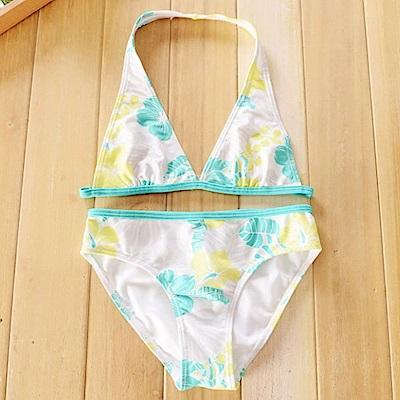 小衣衫童裝  外貿原單渡假風情葉子比基尼泳衣1050507