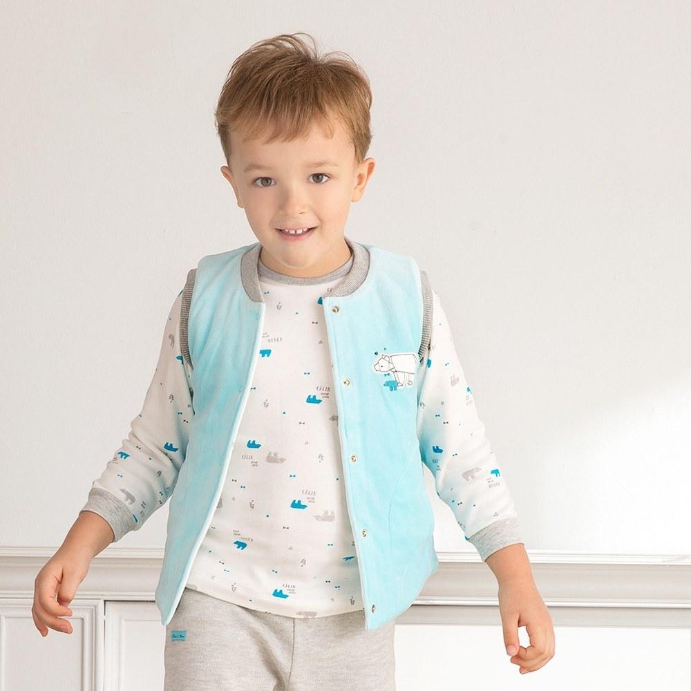 奇哥 摺紙趣雙面舖棉背心(1-4歲)