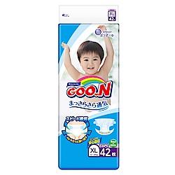 GOO.N日本大王 日本境內版-黏貼型紙尿褲(XL)-42片x4包/箱-透氣舒柔