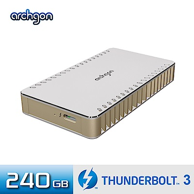Archgon X70 外接式固態硬碟 Thunderbolt 3-240GB -琥珀金