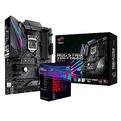 華碩STRIX Z370-F GAMING + intel i7-8700K 套餐組
