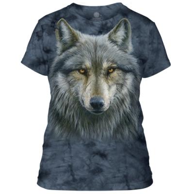 摩達客-美國進口The Mountain 勇戰之狼 短袖女版T恤