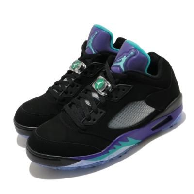 Nike 高爾夫球鞋 Jordan V Low 運動 男鞋 Golf 喬丹五代 黑葡萄 反光 經典 黑 紫 CU4523001