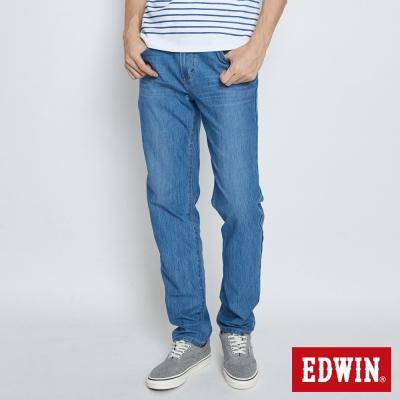 EDWIN 迦績褲JERSEYS織帶AB褲-男-重漂藍