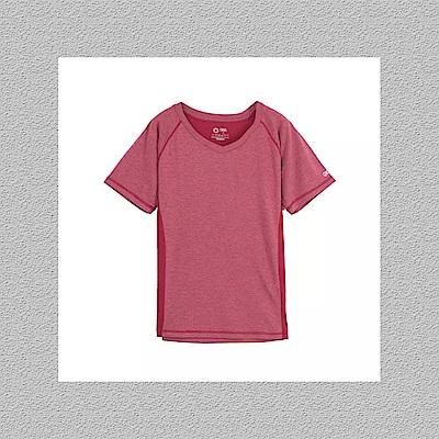 Gfun 女吸濕排汗T恤-深紅色(G7URSL2-red)