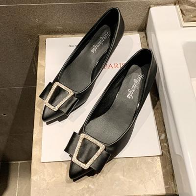 KEITH-WILL時尚鞋館 韓國設計高貴奢華細跟鞋-黑