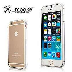 西班牙 Mooke iPhone 6(4.7)超薄鈦合金邊框-時尚銀