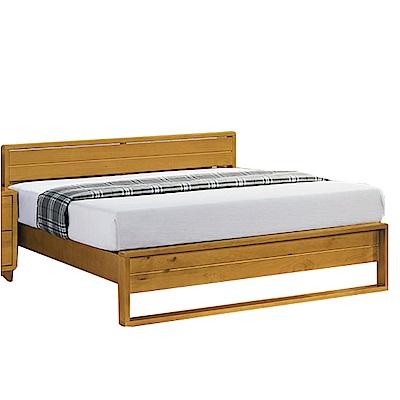 綠活居 普斯時尚6尺實木雙人加大床架(不含床墊)-190x196x82cm-免組