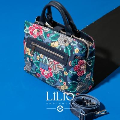 【LILIO】鴨青_磁扣式托特手提包_都市時尚_WINTER  POPPY