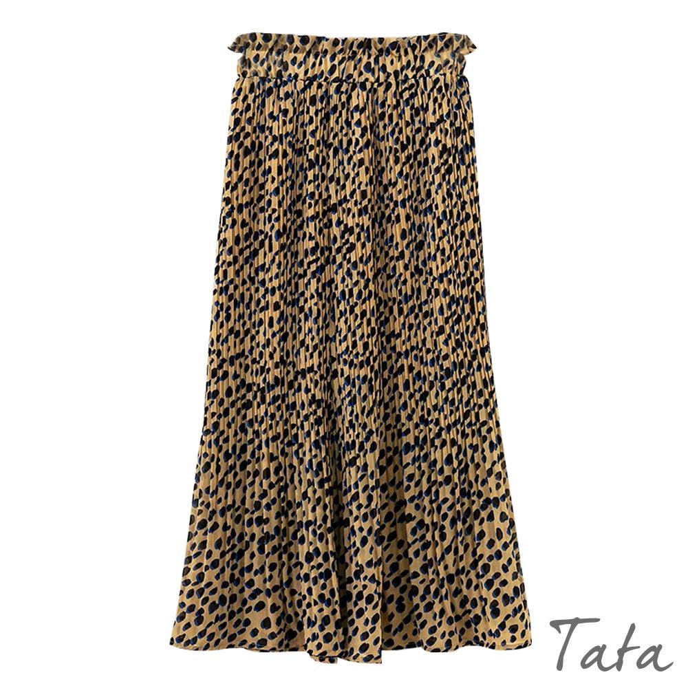 豹紋印花雪紡長裙 共二色 TATA @ Y!購物