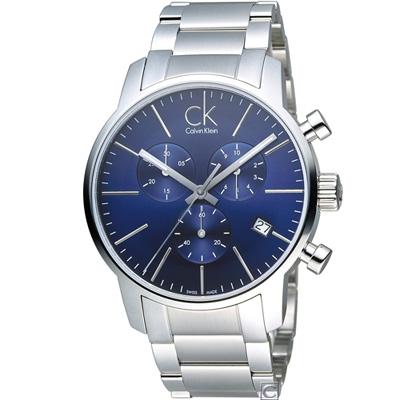 Calvin Klein city 計時腕錶(K2G2714N)藍/43mm