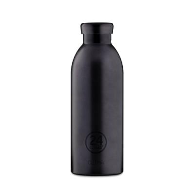 義大利 24Bottles 不鏽鋼雙層保溫瓶 500ml - 黑碧璽