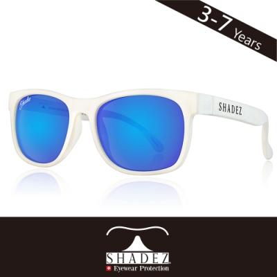 瑞士SHADEZ兒童頂級偏光太陽眼鏡SHZ-410(年齡3-7)-白框湛藍