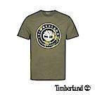 Timberland 男款茶綠色大樹LOGO潮流短袖T恤 A1W5C