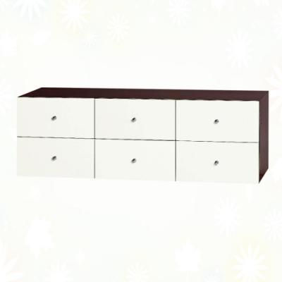 文創集 克爾 環保4尺南亞塑鋼六抽置物櫃/收納櫃-121.2x41.5x40.4cm免組