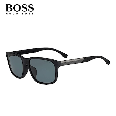 HUGO BOSS- BOSS 0858/F/S 方框太陽眼鏡 銀黑色