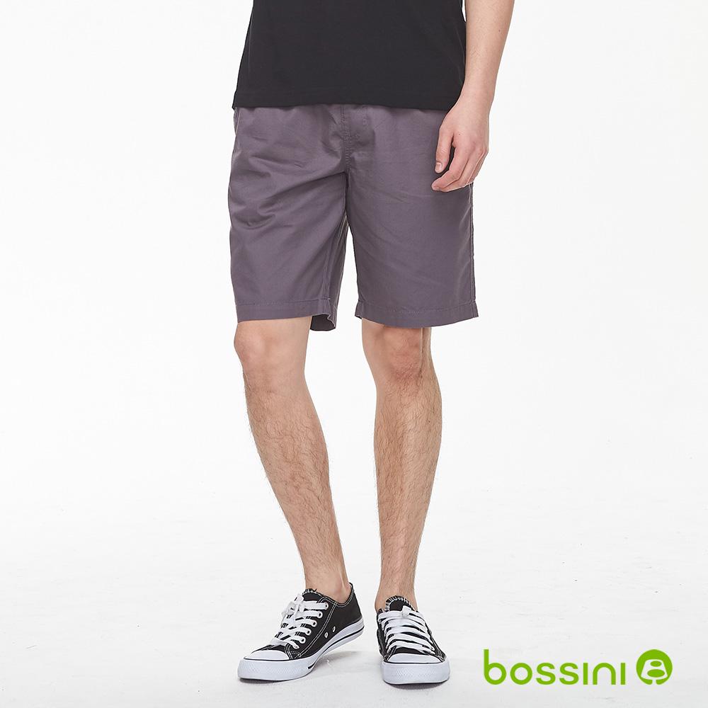 bossini男裝-素色輕便短褲01冷灰