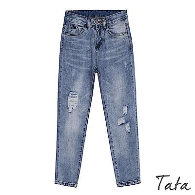 寬鬆刷破男友牛仔褲 TATA