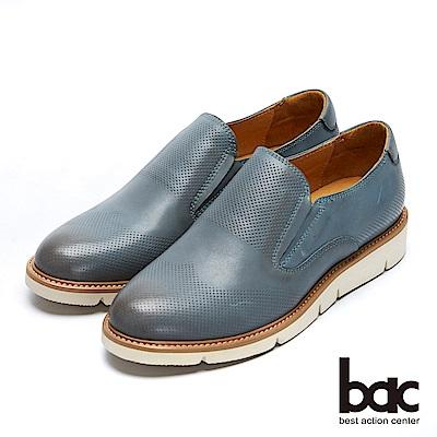 【bac】都會新秀 - 擦色感中性風格沖孔深口平底鞋