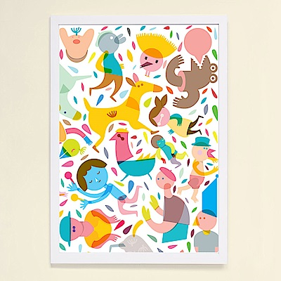 摩達客 西班牙知名插畫家Judy Kaufmann藝術掛畫-Party系列02