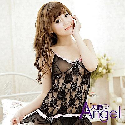 Angel天使 情趣內衣露背睡衣帶T褲 BP023