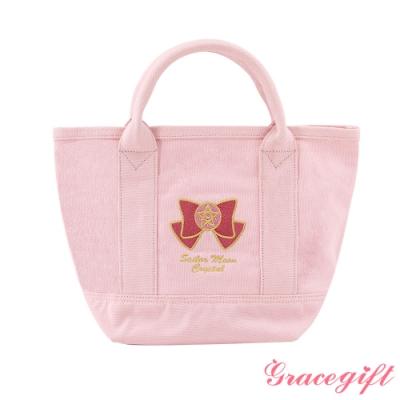 Grace gift-美少女戰士電繡帆布袋 粉