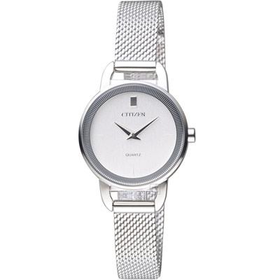 CITIZEN 優雅時尚米蘭風時尚腕錶(EZ7000-50A)銀/32mm