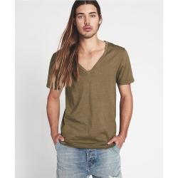 ONETEASPOON V領軍綠T恤 -男