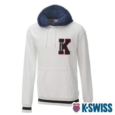 K-SWISS Heritage Hoodie時尚連帽上衣-女-白
