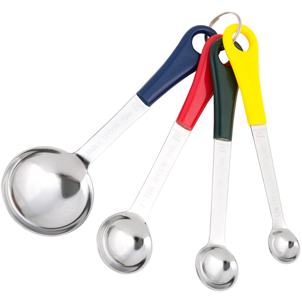 《FOXRUN》彩柄不鏽鋼量匙4件
