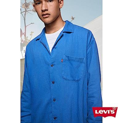 Levis 男款 工裝牛仔襯衫 / 復古西裝外套式設計 / Oversize寬鬆版型 / 寒麻纖維
