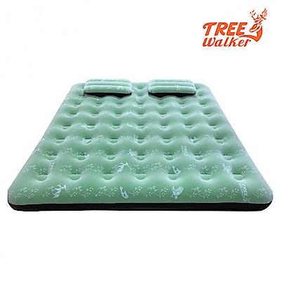 TreeWalker鏕遊趣雙印植絨充氣床附雙枕頭與打氣筒