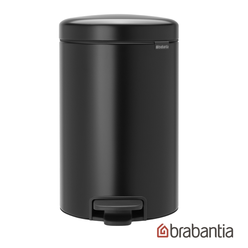 【Brabantia】 NEWICON環保垃圾桶-12L尊爵黑