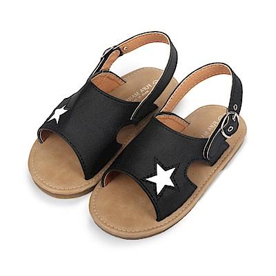 BuyGlasses 可愛小星星兒童涼鞋-黑