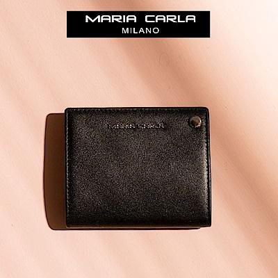 MARIA CARLA 滑蓋式雙面多實用卡夾 小生活系列(皮革黑)