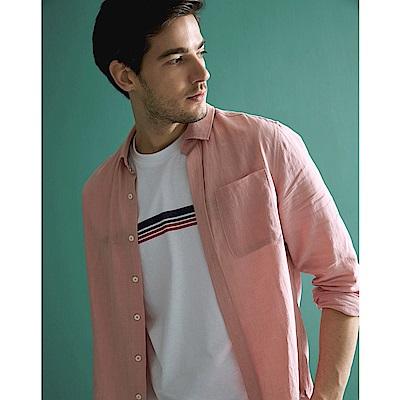 CACO-質感麻料襯衫-(兩色)-男【SAR011】