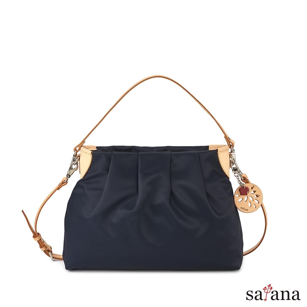 satana - 品味生活中型肩背包 - 墨藍色