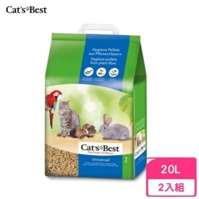 德國凱優Cat′s Best-粗顆粒木屑砂(藍標崩解型) 20L/11kg 兩包組