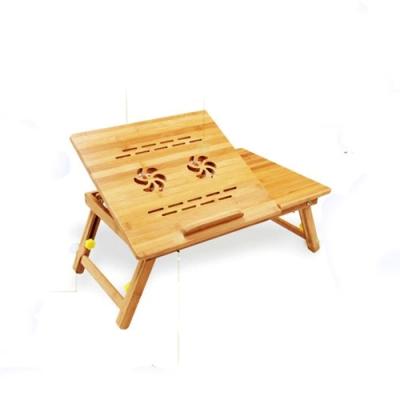原藝坊   竹製大學生宿舍筆電平板折疊桌 (蓮花款)