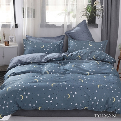 DUYAN竹漾 MIT 天絲絨-雙人床包被套四件組-璀璨星空