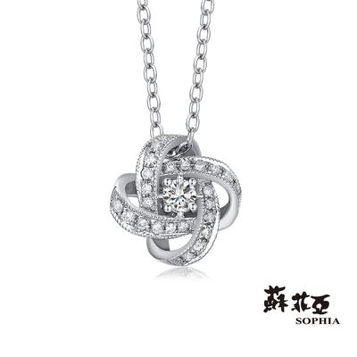 SOPHIA 蘇菲亞珠寶 - 梔子花 14K 鑽石項墜