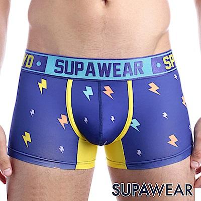 SUPAWEAR 趣味系列超彈性型男四角內褲(藍色)