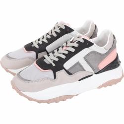 TOD'S FONDO SPORT 45B 霧灰拼接設計老爹鞋(女款)