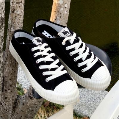 moz瑞典 穆勒拖鞋式餅乾鞋(萬年黑)