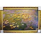 Monet 莫內的蓮(大) 裱褙黃金浮雕藝術框 98x62cm