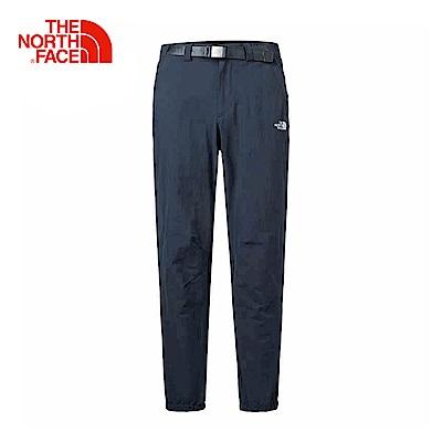 The North Face北面男款藍色吸濕快乾休閒長褲|3GD6H2G