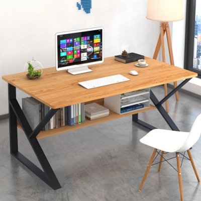 【Effect】收納極簡工業風鋼木桌(3色任選/100x60x72cm)