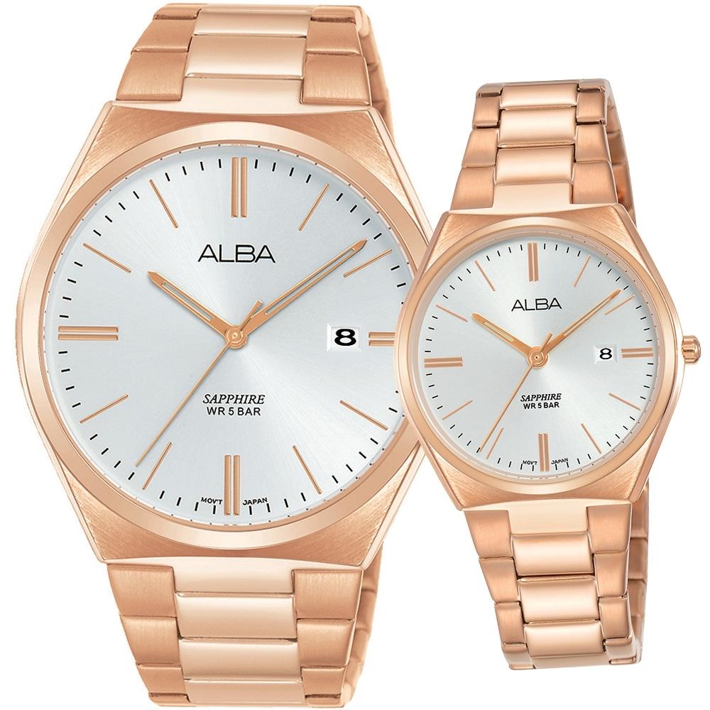 ALBA 美好時刻時尚對錶(AS9J60X1+AH7T36X1)