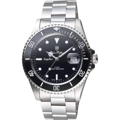 Olym Pianus 陶瓷錶圈日期手錶-黑/43mm(899831GS)