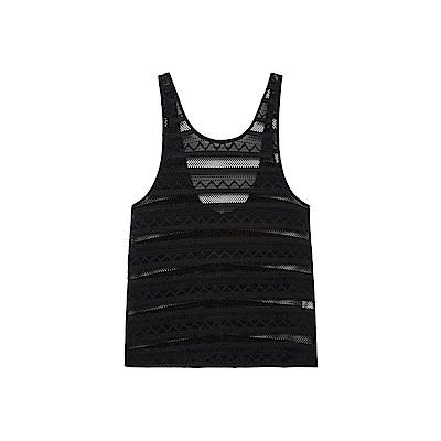 WAVE SHINE-蕾絲長版大挖背罩衫(兩色)-女【TWS144】